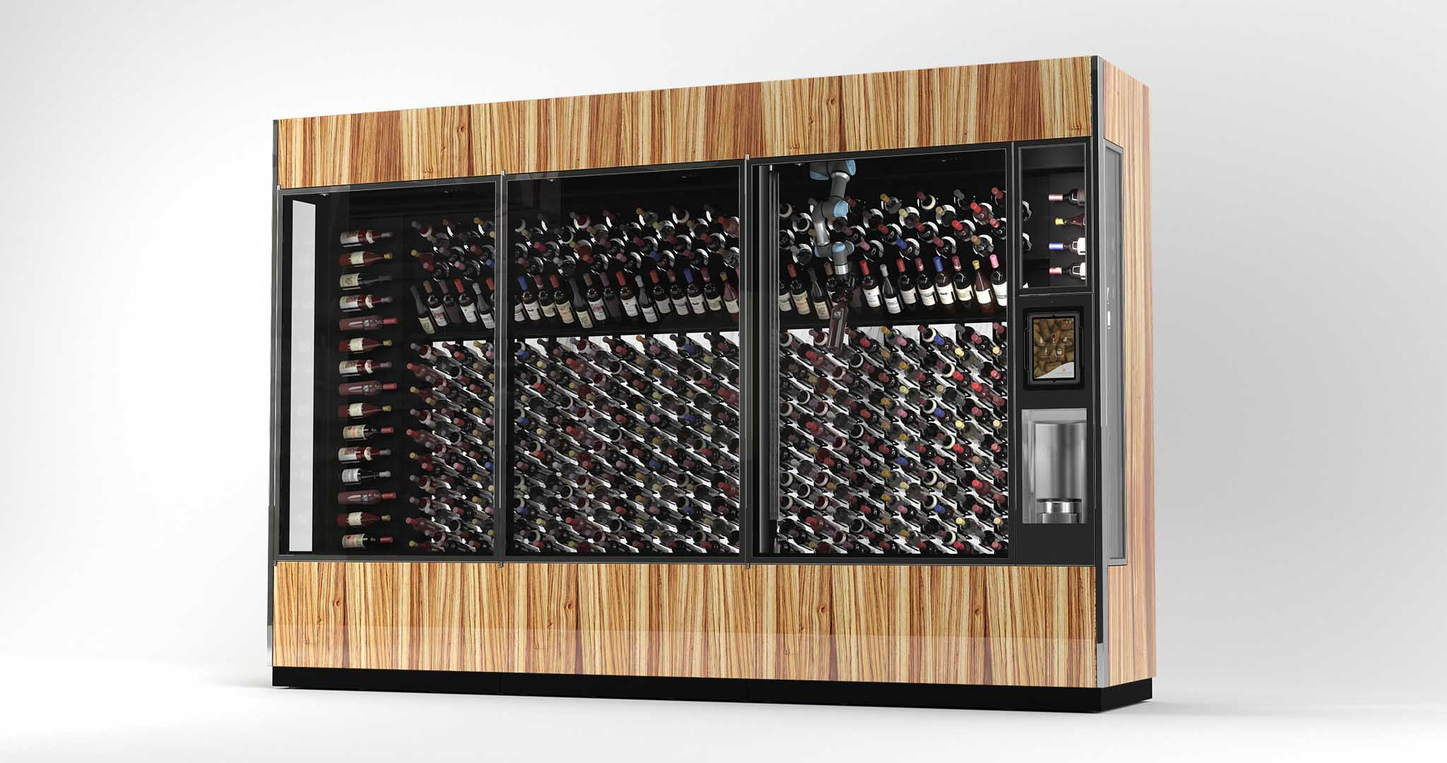 Wine Wall 15 - Zebrawood with Tungsten Trim